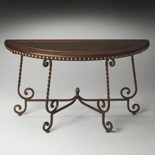 Chrystal Demilune Console Table By Fleur De Lis Living