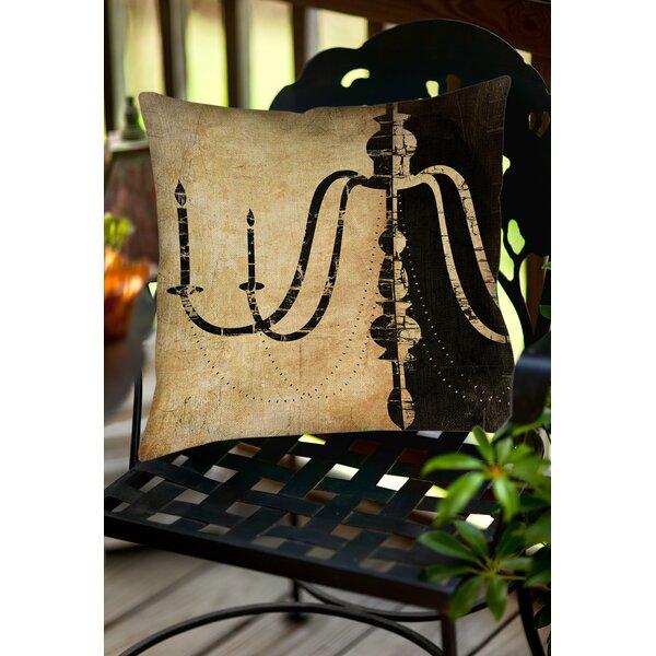 Chandelier 2 Indoor/Outdoor Throw Pillow by Manual Woodworkers & Weavers