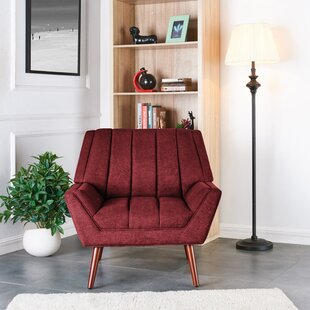 Dodd ArmChair in Plush Low-Pile Velvet Brayden Studio