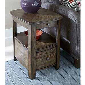 Hassania Wood Chairside Table by Bloomsbury Market