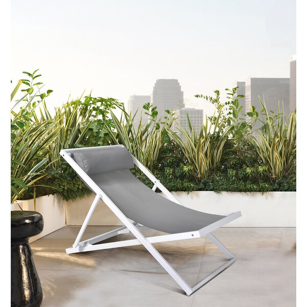 Wave Powder Coating Patio Dining Chair by Armen Living Armen Living