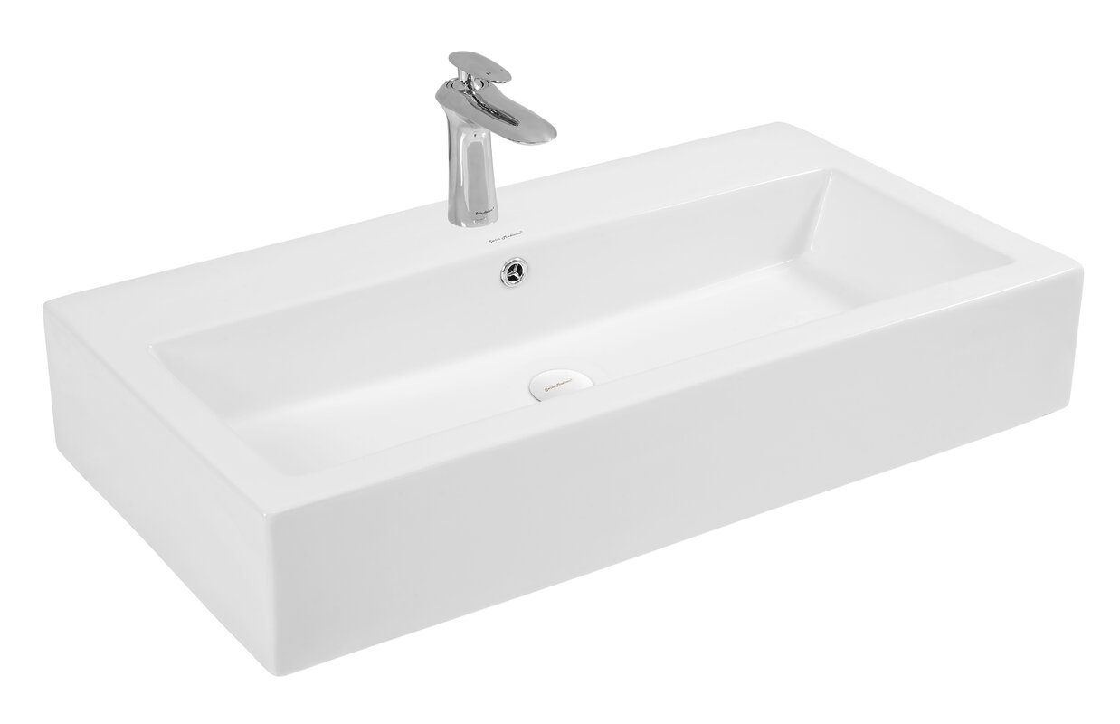 Bathroom Sinks Rectangular swiss madison plaisir® rectangular vessel bathroom sink with