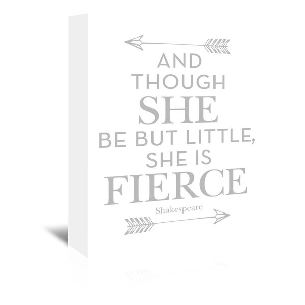 She Is Fierce Canvas Art by Viv + Rae