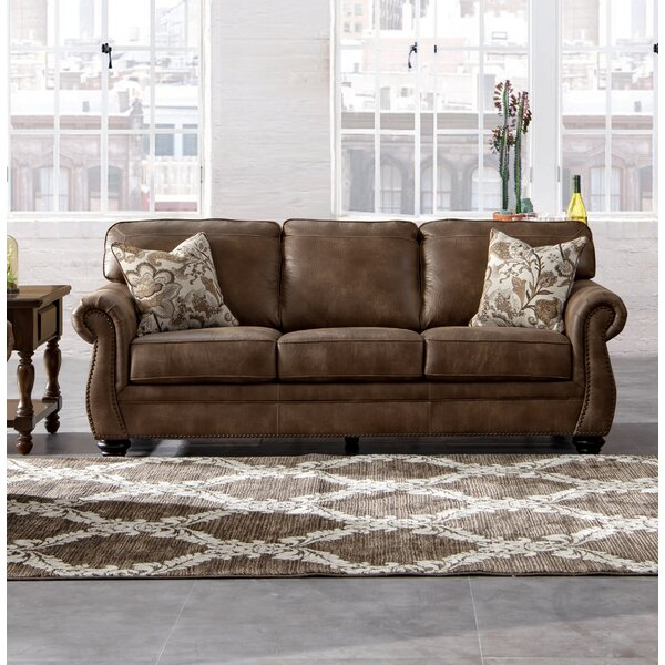 Best Deals Sandbach Acanva Contemporary Leathaire Standard Sofa by Darby Home Co by Darby Home Co