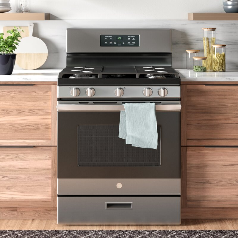 Ge Liances 30 5 Cu Ft Freestanding Gas Range With Griddle