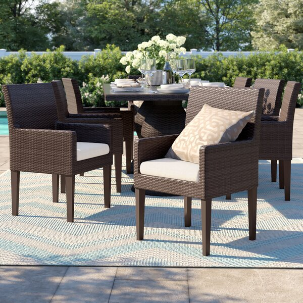 Tegan Patio Dining Chair with Cushion (Set of 8) by Sol 72 Outdoor