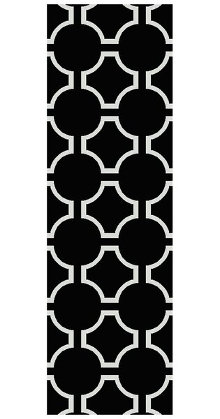 Findley Hand-Woven Black Area Rug by Darby Home Co