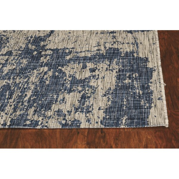 Christabelle Abstract Blue Indoor / Outdoor Area Rug