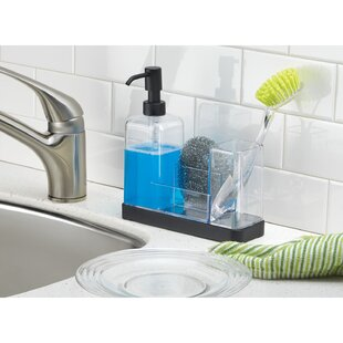 Jorgensen Kitchen Soap Dispenser Pump Sponge Scrubby And Dish Brush Caddy Organizer