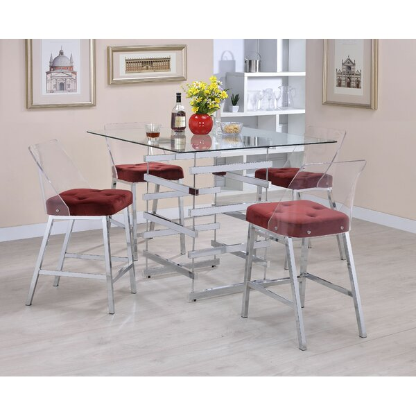 Danyal 5 Piece Counter Height  Dining Set by Orren Ellis Orren Ellis
