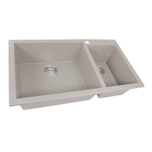 Nantucket Sinks 33.25� x 19.5� Double Basin Drop-In Kitchen Sink