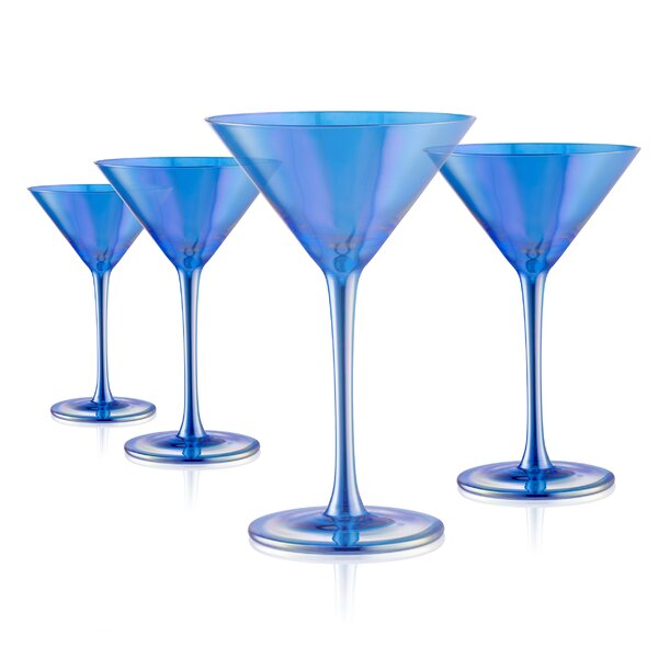 Mchaney Martini 11 oz. Glass Cocktail Glasses (Set of 4) by Ivy Bronx