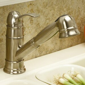 Premier Faucet Wellington Single Handle Kitchen Faucet with Optional Deck Plate