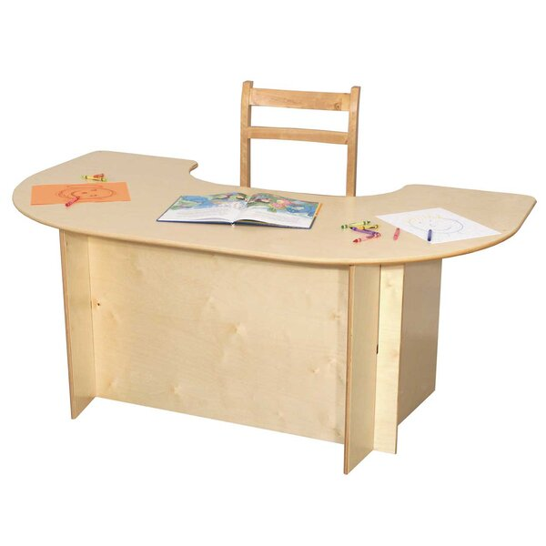 52 x 29.5 Horseshoe Activity Table by Wood Designs