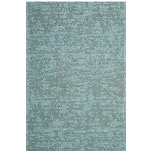 Holsworth Hand-Woven Blue Area Rug by Mercury Row