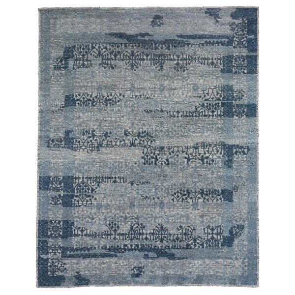 Roma Hand-Knotted Wool Gray/Blue Area Rug