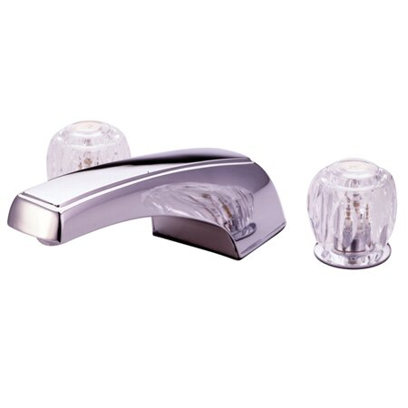 Double Handle Deck Mount Roman Tub Faucet Trim Clear Acrylic Handle by Elements of Design