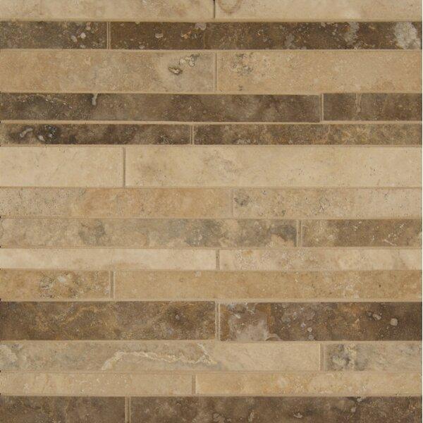 Sized Travertine Mosaic Tile in Tan by Grayson Martin