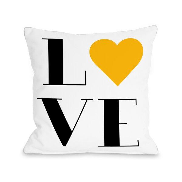 Love Heart Throw Pillow by One Bella Casa