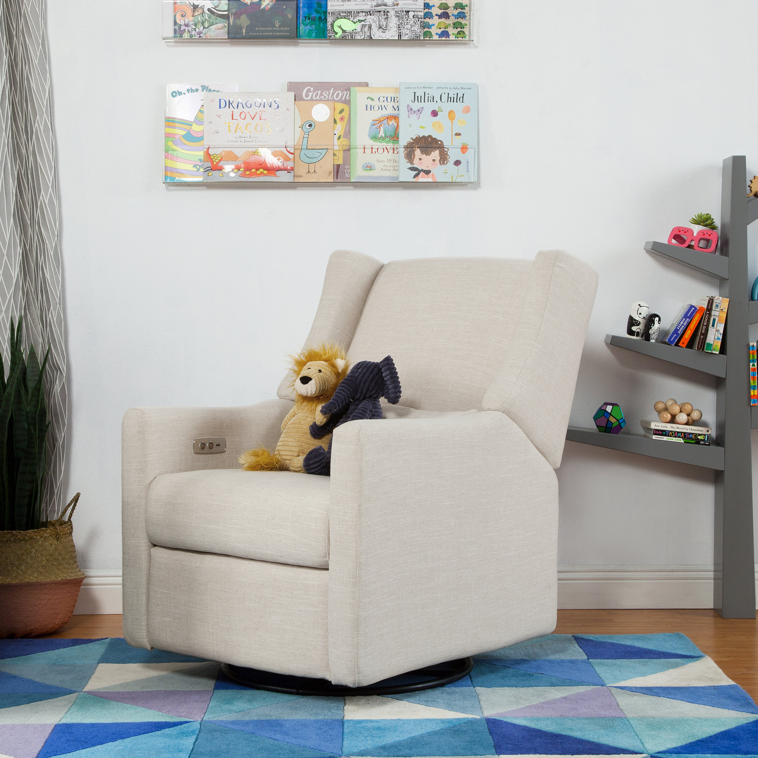 gray trend contemporary furniture recliner rocker nursery on chair glider and fixed style incredible for rocking