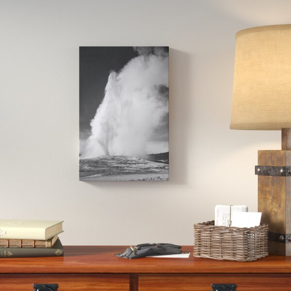 Old Faithful Geyser, Yellowstone National Park by Ansel Adams Photographic Print on Wrapped Canvas by Loon Peak