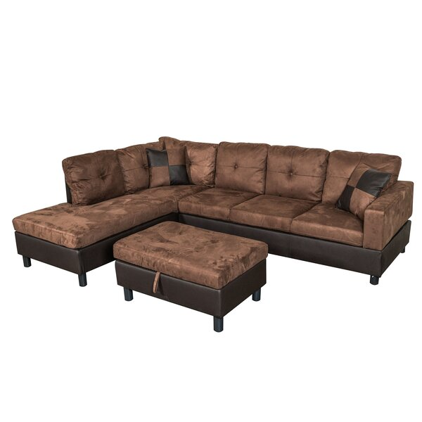 Best Price For Richview Sectional with Ottoman by Charlton Home by Charlton Home
