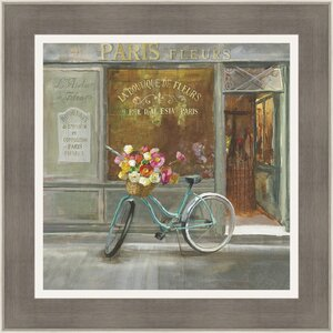 'French Flowershop' Framed Painting Print by Ashton Wall Décor LLC