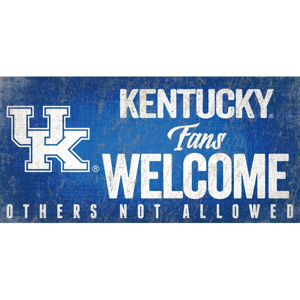 NCAA Fans Welcome Sign Wall Décor by Fan Creations