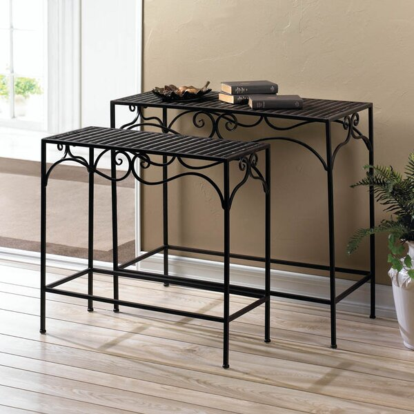 Umber Wicker 2 Piece Nesting Tables by Zingz & Thingz