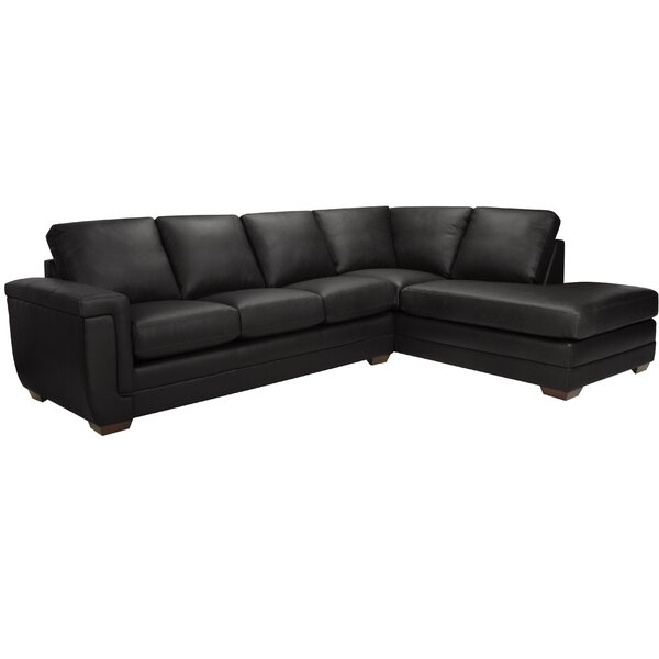 Gile Italian Leather Sectional by Latitude Run