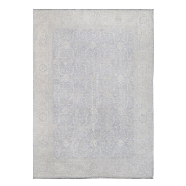 Hand-Knotted Beige Area Rug by Wildon Home ®