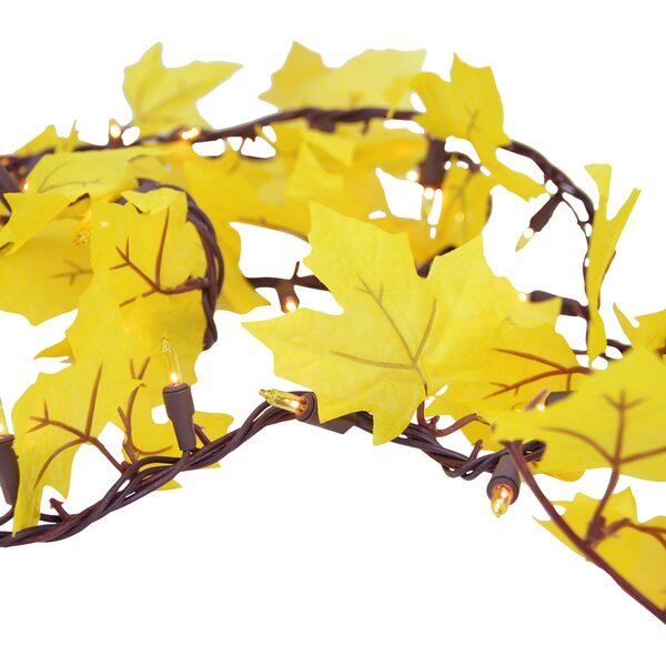 50 Light Autumn Leaf Thanksgiving Amber Light String by Sienna Lighting