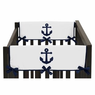 Comparison Anchors Away Crib Rail Guard Cover (Set of 2) By Sweet Jojo Designs