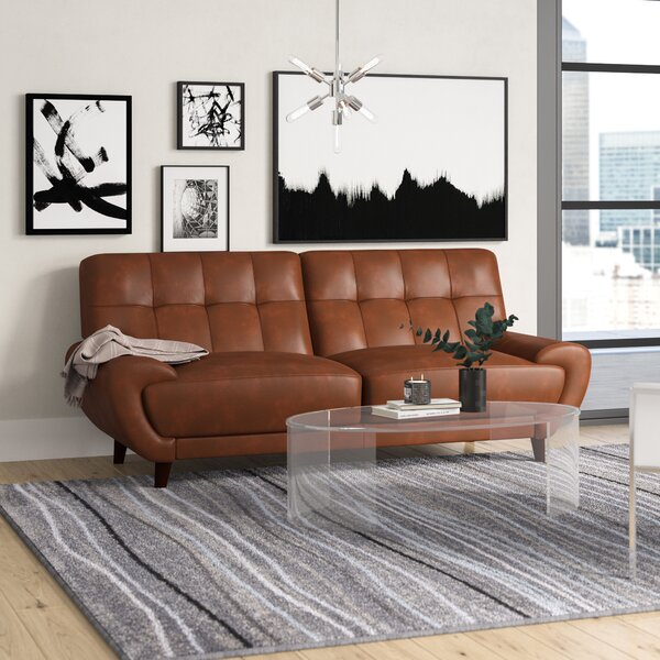 Sterns Craft Leather Sofa by Brayden Studio