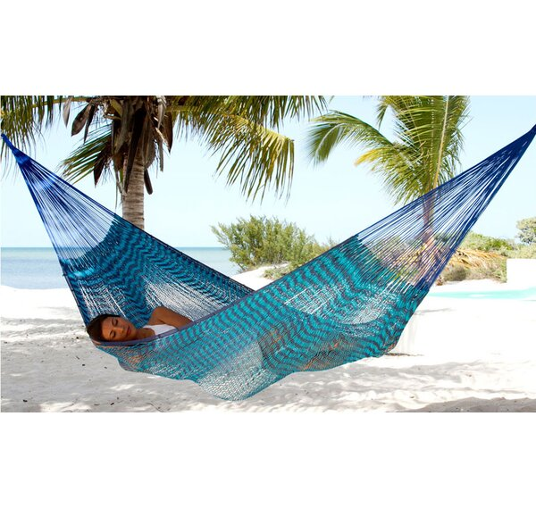 Maya Artists of The Yucatan Double Person Loving Mother Embrace   Sustainable Cotton Tree Hammock by Novica