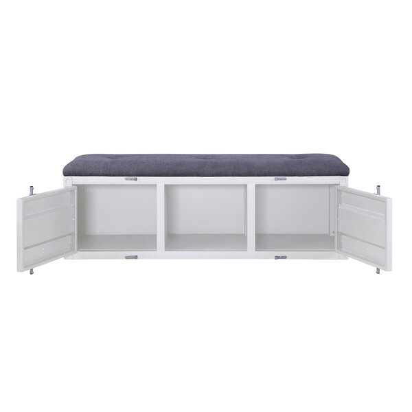 Saira Upholstered Cabinet Bench by Breakwater Bay