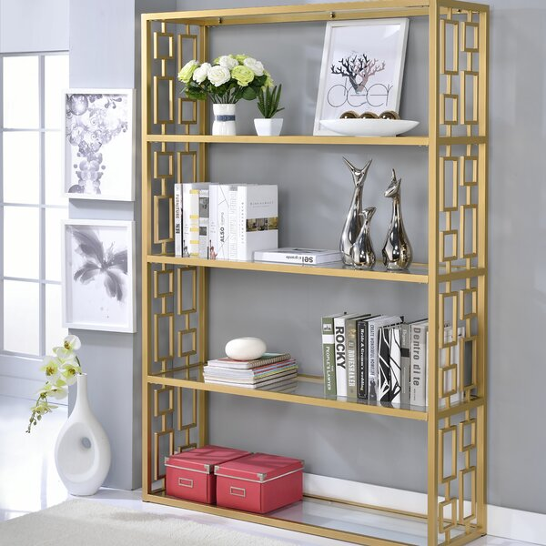 Rhys Etagere Bookcase by Everly Quinn
