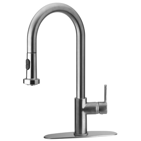 Elix Pull Down Touch Single Handle Kitchen Faucet by LaToscana