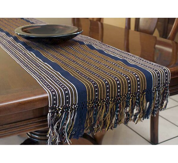Hand-Crafted Cotton Table Runner by Novica