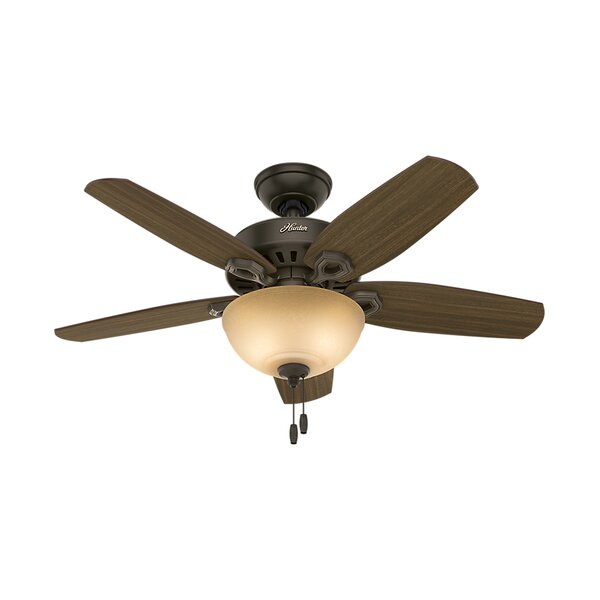 42 Builder Small Room 5 Blade Ceiling Fan with Light by Hunter Fan