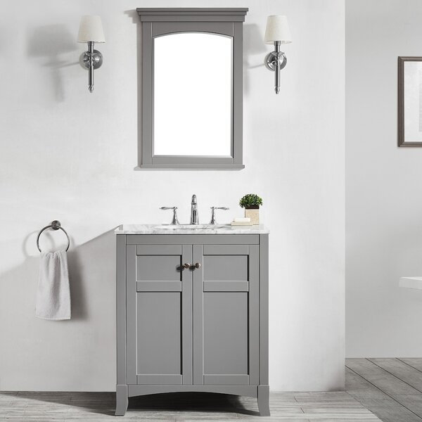 Manningtree 30 Single Vanity Set with Mirror by Highland Dunes