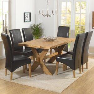 Essgruppe Rochelle mit ausziehbarem Tisch und 6 Stühlen von Home Etc