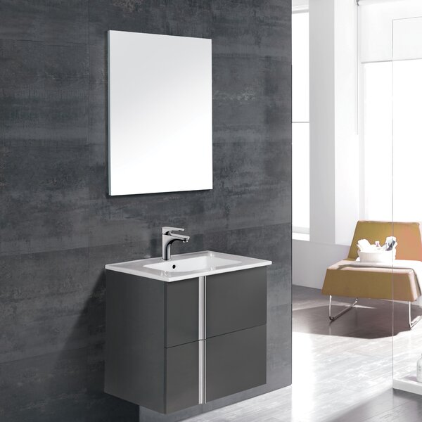 Onix 24 Single Bathroom Vanity Set with Mirror by Dawn USA
