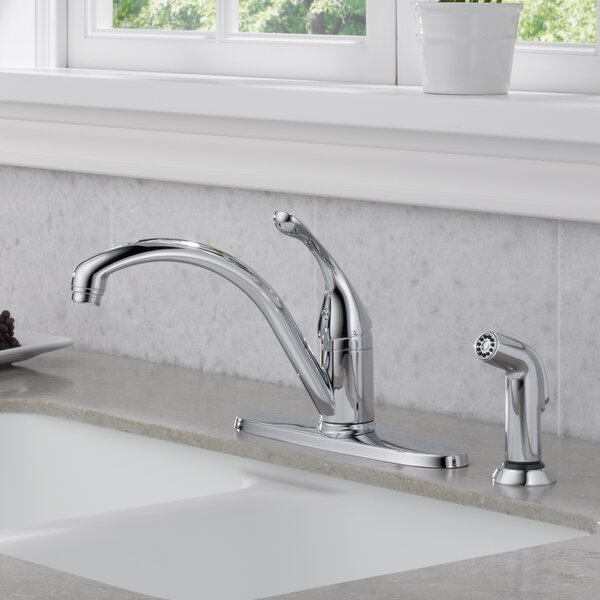 Collins Single Handle  Kitchen Faucet with Side Spray and Diamond Seal Technology by Delta