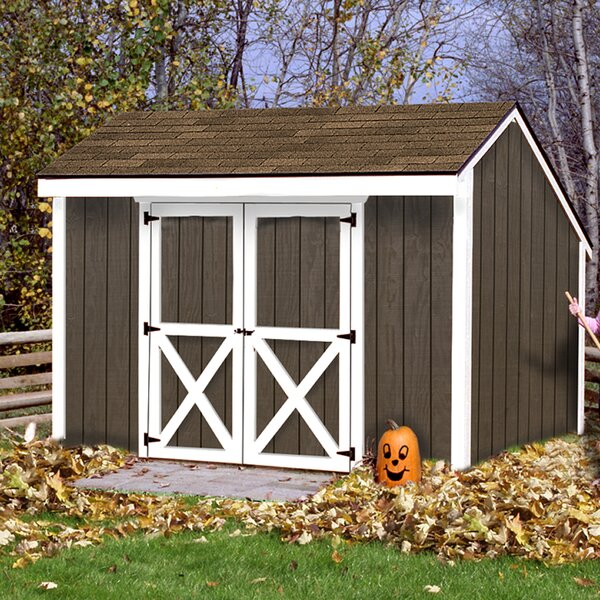 Aspen 12 ft. W x 8 ft. D Solid Wood Storage Shed by Best Barns