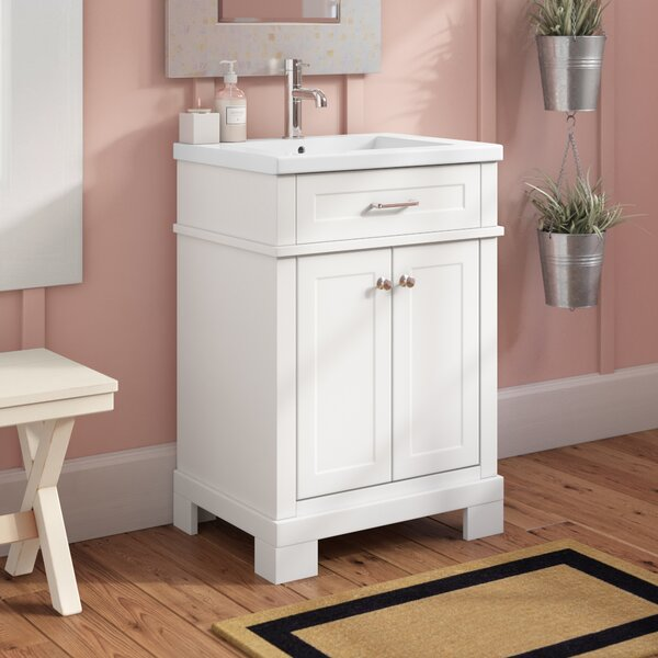 @ Dutcher 24 Single Sink Bathroom Vanity by Rosecliff Heights| #$0.00!