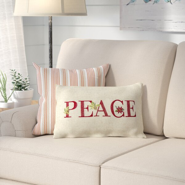 Savanah Peace Lumbar Pillow by August Grove