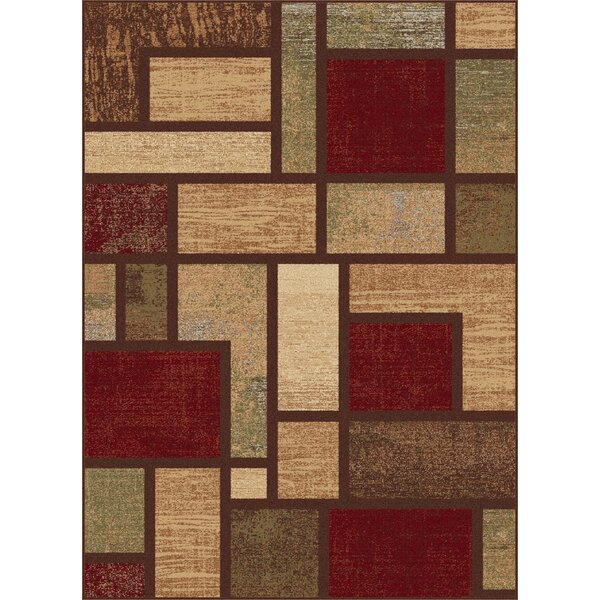 Hartle Modern Brown Area Rug by Ebern Designs