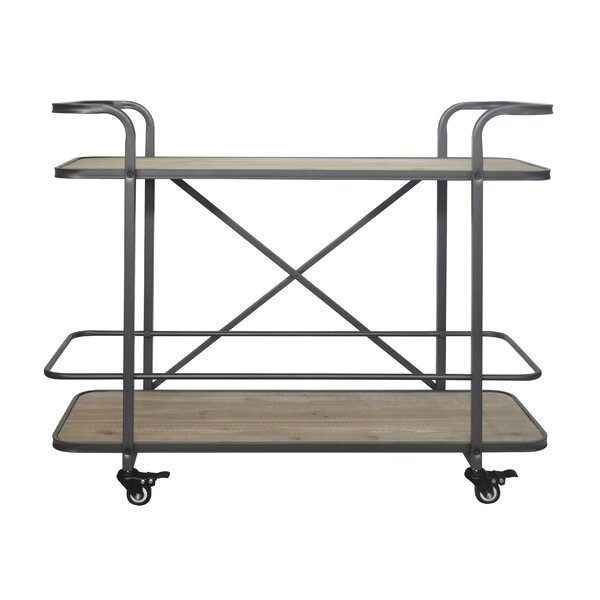 Micheala 2 Tier  Bar Cart by 17 Stories