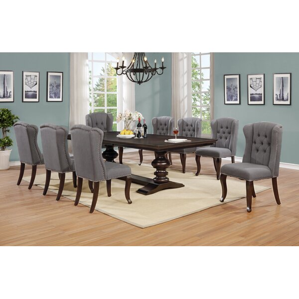 Aldana 9 Piece Extendable Dining Set by Canora Grey